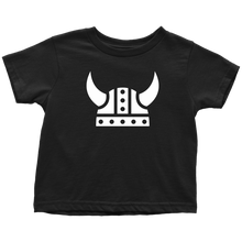 Load image into Gallery viewer, Viking Helmet Toddler Tee Toddler T-Shirt / Black / 2T - Scandinavian Design Studio
