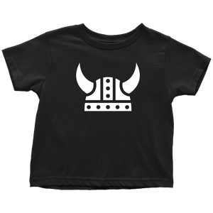 Viking Helmet Toddler Tee Toddler T-Shirt / Black / 2T - Scandinavian Design Studio