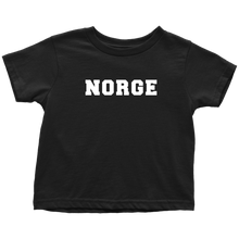 Load image into Gallery viewer, Norge Toddler Tee Toddler T-Shirt / Black / 2T - Scandinavian Design Studio