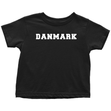 Load image into Gallery viewer, Danmark Toddler Tee Toddler T-Shirt / Black / 2T - Scandinavian Design Studio