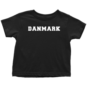 Danmark Toddler Tee Toddler T-Shirt / Black / 2T - Scandinavian Design Studio