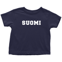 Load image into Gallery viewer, Suomi Toddler Tee Toddler T-Shirt / Navy Blue / 2T - Scandinavian Design Studio