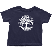 Load image into Gallery viewer, Tree Of Life Toddler Tee Toddler T-Shirt / Navy Blue / 2T - Scandinavian Design Studio