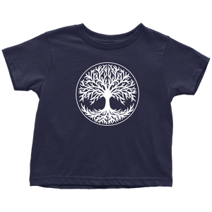 Tree Of Life Toddler Tee Toddler T-Shirt / Navy Blue / 2T - Scandinavian Design Studio