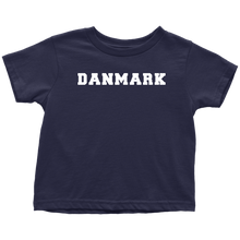 Load image into Gallery viewer, Danmark Toddler Tee Toddler T-Shirt / Navy Blue / 2T - Scandinavian Design Studio