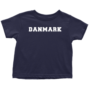 Danmark Toddler Tee Toddler T-Shirt / Navy Blue / 2T - Scandinavian Design Studio