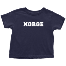 Load image into Gallery viewer, Norge Toddler Tee Toddler T-Shirt / Navy Blue / 2T - Scandinavian Design Studio