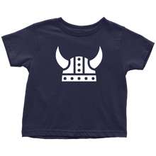 Load image into Gallery viewer, Viking Helmet Toddler Tee Toddler T-Shirt / Navy Blue / 2T - Scandinavian Design Studio