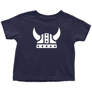 Viking Helmet Toddler Tee Toddler T-Shirt / Navy Blue / 2T - Scandinavian Design Studio