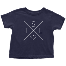 Load image into Gallery viewer, Iceland Love Toddler Tee Toddler T-Shirt / Navy Blue / 2T - Scandinavian Design Studio