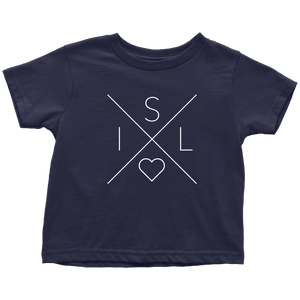 Iceland Love Toddler Tee Toddler T-Shirt / Navy Blue / 2T - Scandinavian Design Studio