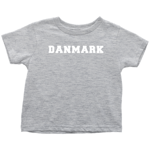 Danmark Toddler Tee Toddler T-Shirt / Heather Grey / 2T - Scandinavian Design Studio