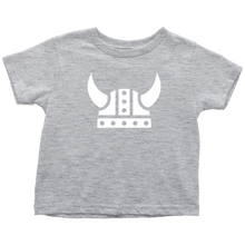 Load image into Gallery viewer, Viking Helmet Toddler Tee Toddler T-Shirt / Heather Grey / 2T - Scandinavian Design Studio