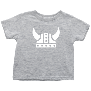Viking Helmet Toddler Tee Toddler T-Shirt / Heather Grey / 2T - Scandinavian Design Studio