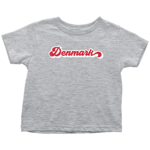Retro Denmark Toddler Tee Toddler T-Shirt / Heather Grey / 2T - Scandinavian Design Studio