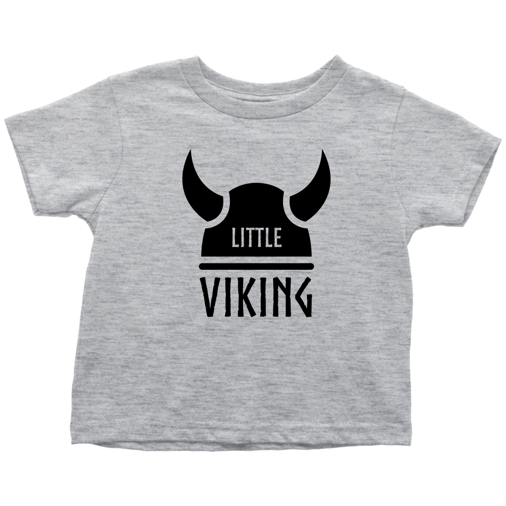 Little Viking Toddler Tee Toddler T-Shirt / Heather Grey / 2T - Scandinavian Design Studio