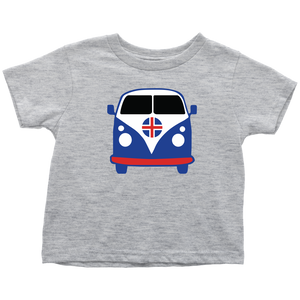 Icelandic VW Van Toddler Tee Toddler T-Shirt / Heather Grey / 2T - Scandinavian Design Studio