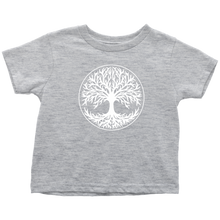 Load image into Gallery viewer, Tree Of Life Toddler Tee Toddler T-Shirt / Heather Grey / 2T - Scandinavian Design Studio