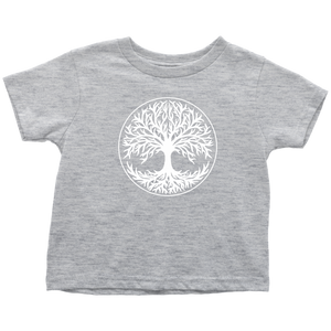 Tree Of Life Toddler Tee Toddler T-Shirt / Heather Grey / 2T - Scandinavian Design Studio