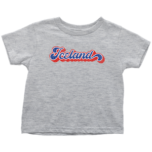 Retro Iceland Toddler Tee Toddler T-Shirt / Heather Grey / 2T - Scandinavian Design Studio