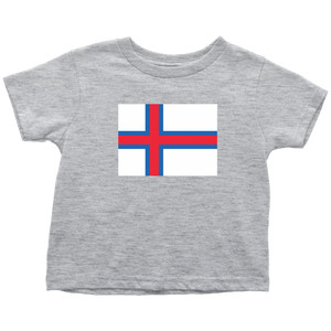 Faroese Flag Toddler Tee Toddler T-Shirt / Heather Grey / 2T - Scandinavian Design Studio