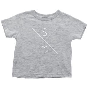 Iceland Love Toddler Tee Toddler T-Shirt / Heather Grey / 2T - Scandinavian Design Studio