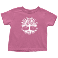 Load image into Gallery viewer, Tree Of Life Toddler Tee Toddler T-Shirt / Raspberry / 2T - Scandinavian Design Studio