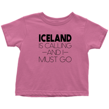 Load image into Gallery viewer, Iceland Is Calling And I Must Go Toddler Tee Toddler T-Shirt / Raspberry / 2T - Scandinavian Design Studio