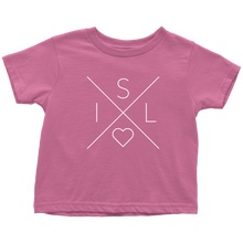 Load image into Gallery viewer, Iceland Love Toddler Tee Toddler T-Shirt / Raspberry / 2T - Scandinavian Design Studio