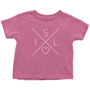 Iceland Love Toddler Tee Toddler T-Shirt / Raspberry / 2T - Scandinavian Design Studio