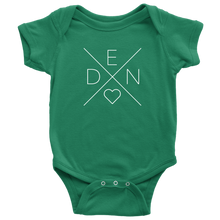 Load image into Gallery viewer, Denmark Love Baby Bodysuit Baby Bodysuit / Kelly / NB - Scandinavian Design Studio
