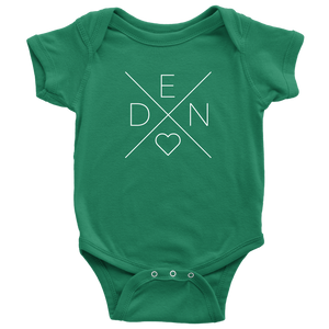 Denmark Love Baby Bodysuit Baby Bodysuit / Kelly / NB - Scandinavian Design Studio