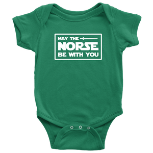 May The Norse Be With You Baby Bodysuit Baby Bodysuit / Kelly / NB - Scandinavian Design Studio