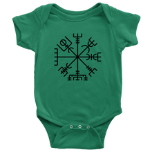 Load image into Gallery viewer, Viking Compass Baby Bodysuit Baby Bodysuit / Kelly / NB - Scandinavian Design Studio