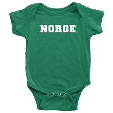 Load image into Gallery viewer, Norge Baby Bodysuit Baby Bodysuit / Kelly / NB - Scandinavian Design Studio