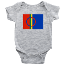 Load image into Gallery viewer, Sami Flag Baby Bodysuit Baby Bodysuit / Heather Grey / NB - Scandinavian Design Studio