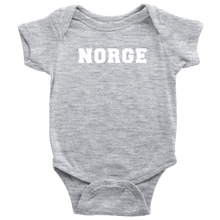 Load image into Gallery viewer, Norge Baby Bodysuit Baby Bodysuit / Heather Grey / NB - Scandinavian Design Studio