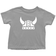 Load image into Gallery viewer, Viking Helmet Toddler Tee Toddler T-Shirt / Slate / 2T - Scandinavian Design Studio