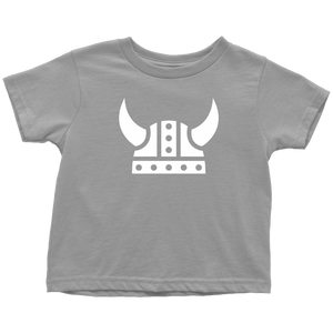 Viking Helmet Toddler Tee Toddler T-Shirt / Slate / 2T - Scandinavian Design Studio