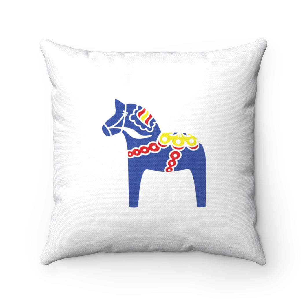 Traditional Dala Horse Square Pillow Case