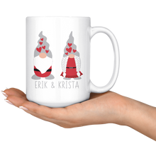 Load image into Gallery viewer, Personalized Valentine's Day Gnome Couple Large Mug - Scandinavian Design Studio