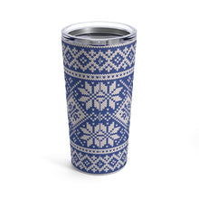 Load image into Gallery viewer, Blue Norwegian Ski Sweater Print 20 oz Insulated Tumbler