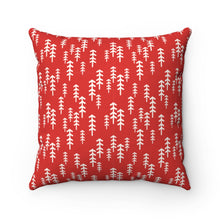 Load image into Gallery viewer, Red and White Trees Square Pillow Case
