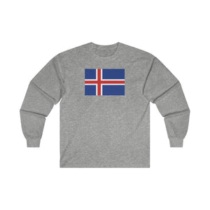 Icelandic Flag Long Sleeve Tee