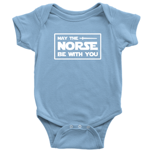 May The Norse Be With You Baby Bodysuit Baby Bodysuit / Light Blue / NB - Scandinavian Design Studio