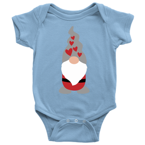 Valentine's Day Boy Gnome Baby Bodysuit Baby Bodysuit / Light Blue / NB - Scandinavian Design Studio