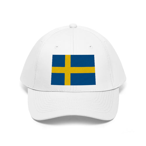 Swedish Flag Embroidered Hat White / One size - Scandinavian Design Studio