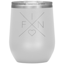 Load image into Gallery viewer, Finland Love Wine Tumbler White - Scandinavian Design Studio