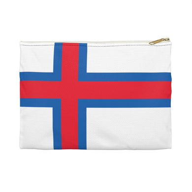 Faroese Flag Accessory Pouch Large / White - Scandinavian Design Studio