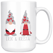 Load image into Gallery viewer, Personalized Valentine's Day Gnome Couple Large Mug Red - Scandinavian Design Studio